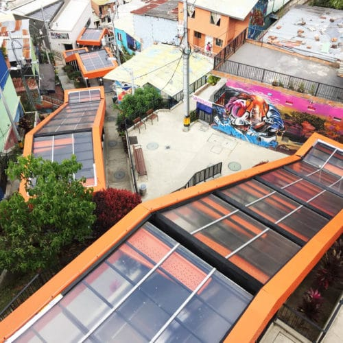 Medellin Graffiti Tour Escalators and innovation in Comuna 13