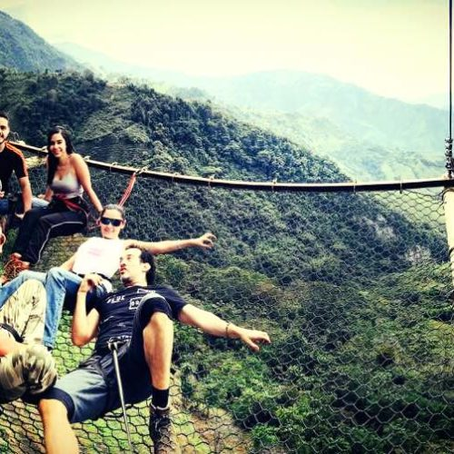 Hanging Net Abejorral Medellin Antioquia. Extreme sport