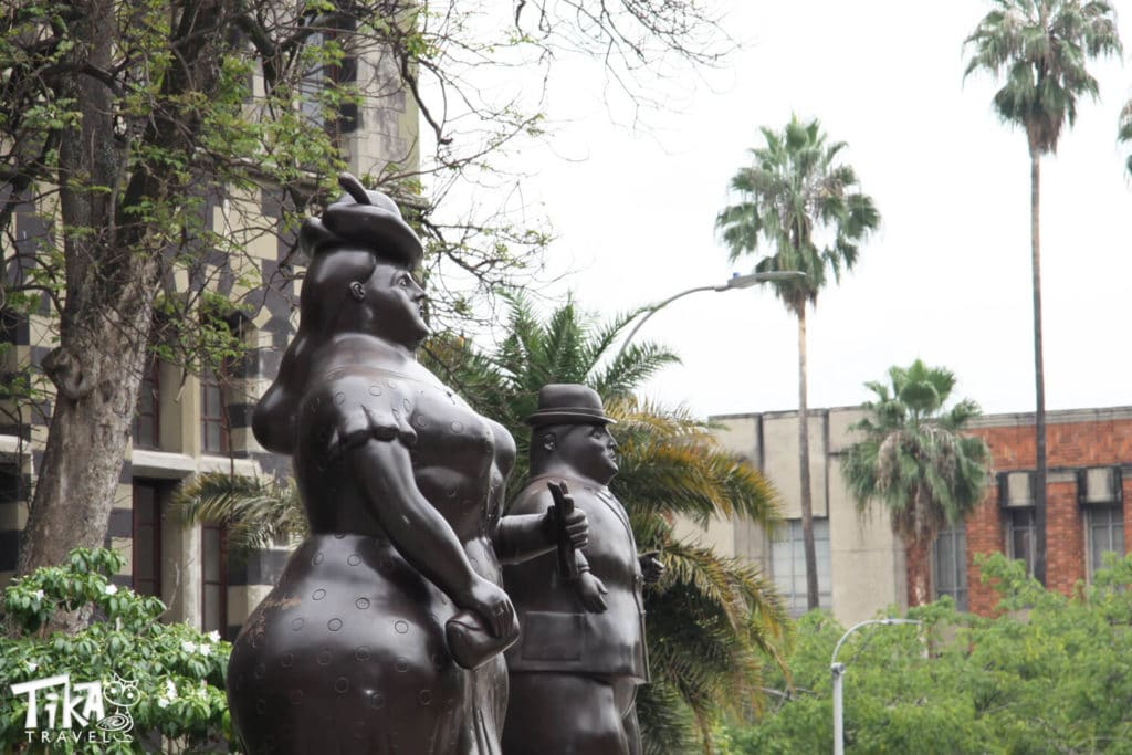 Botero Couple Medellin City Tour Tika Travel