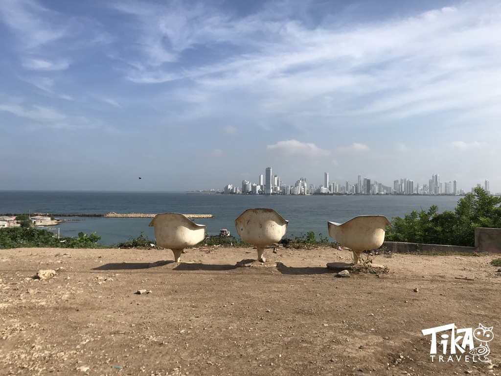 Bocagrande view from Tierra Bomba Cartagena Colombia